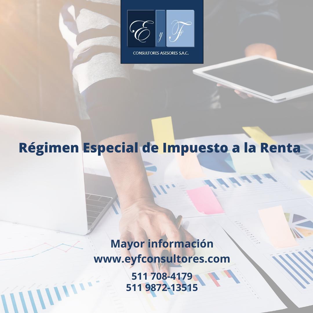 regimen especial impuesto a la renta